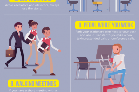 How to Stay in Shape at the Office Infographic