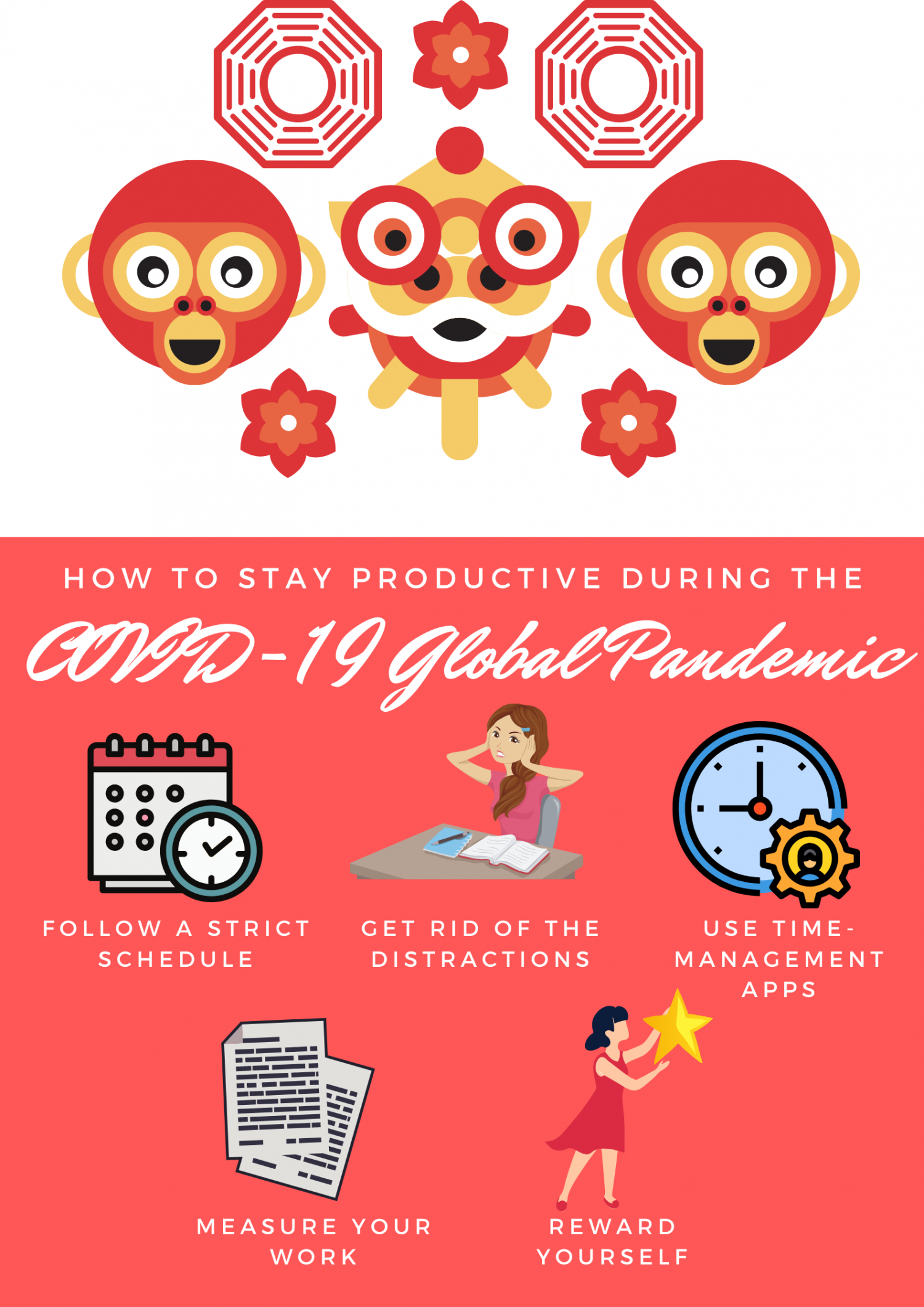 How to Stay Productive During the COVID-19 Global Pandemic Infographic
