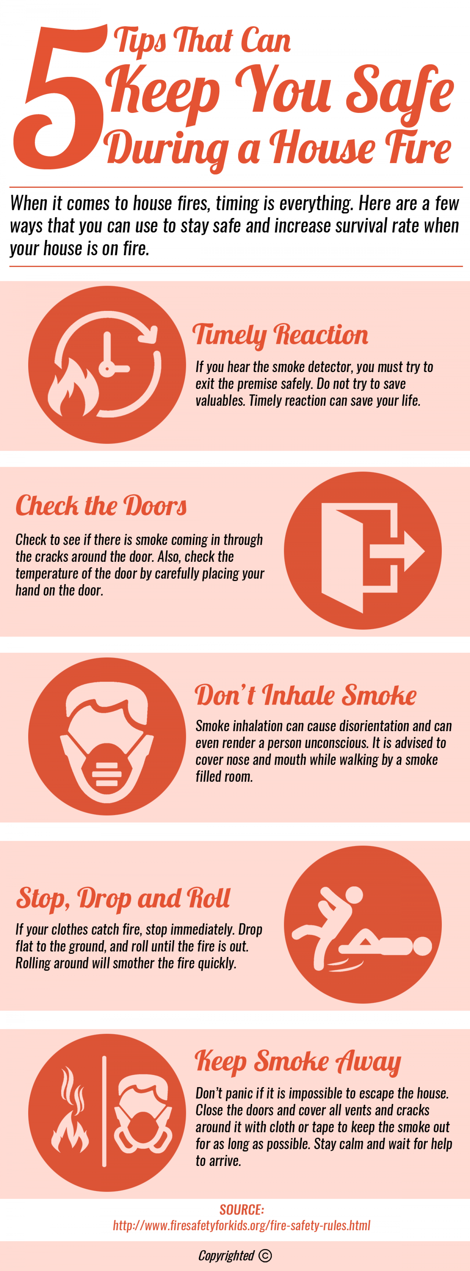 How to stay safe during a house fire Infographic