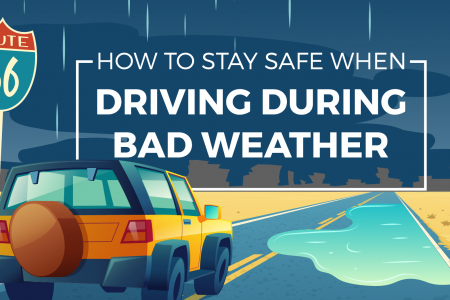 How to Stay Safe When Driving During Bad Weather Infographic