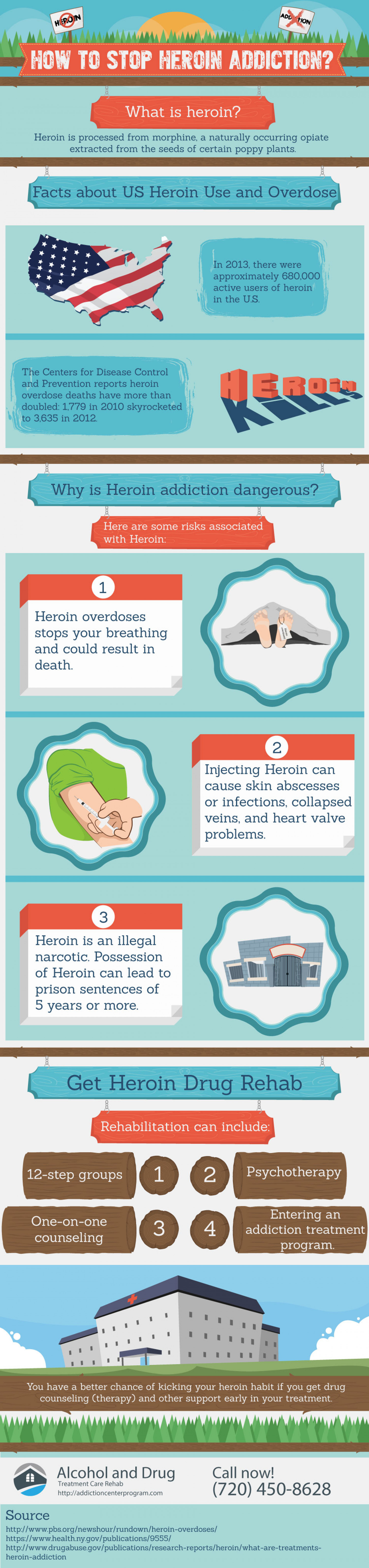 How to Stop Heroin Addiction? | Alcohol and Drug Treatment Care Rehab Infographic