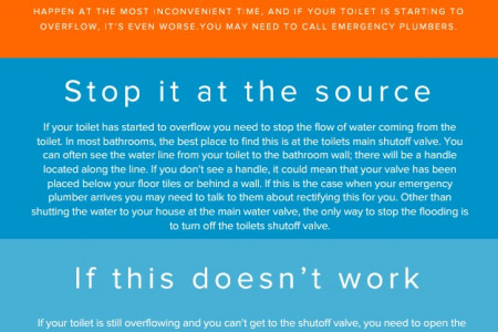 How to Stop Overflow Toilet? Infographic