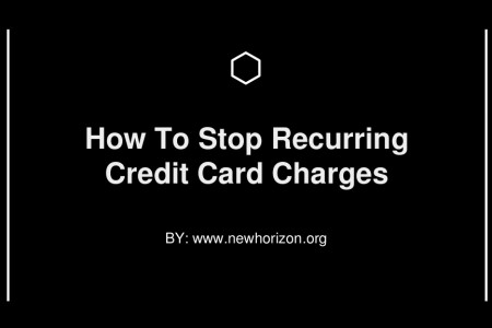 How To Stop Recurring  Credit Card Charges Infographic