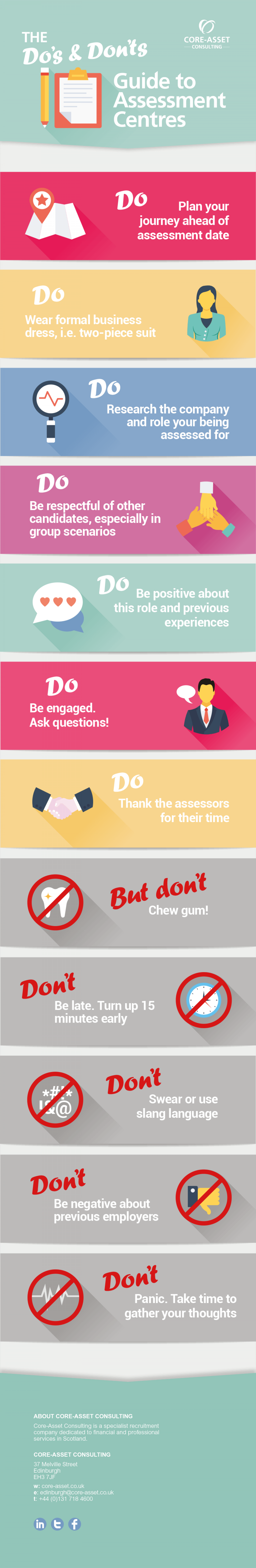 How to Succeed at an Assessment Centre Infographic