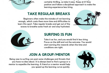 How To Surf Without Getting Tired Infographic