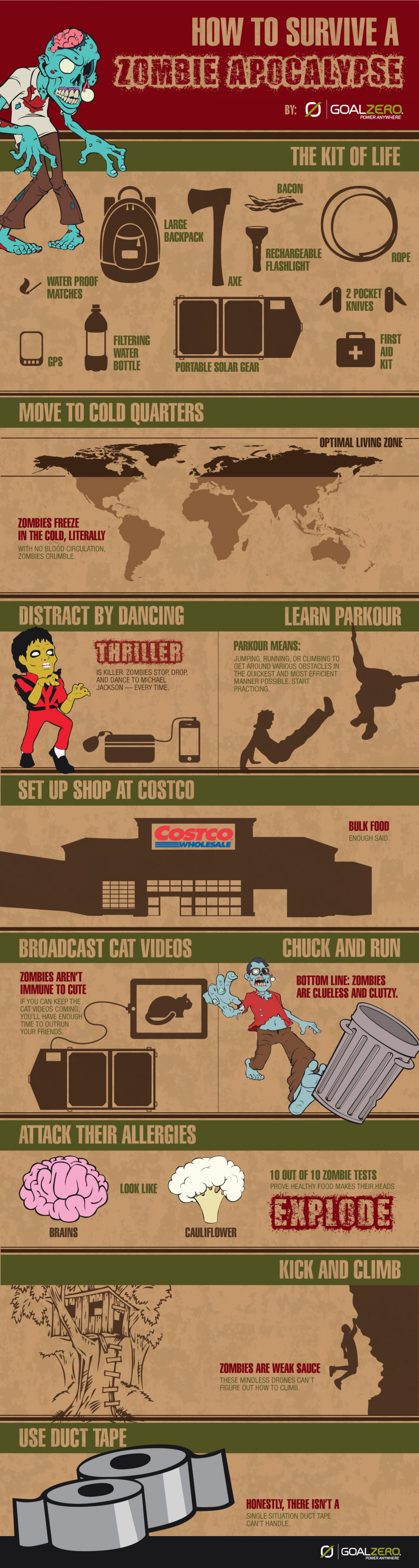How to Survive a Zombie Apocalypse  Infographic