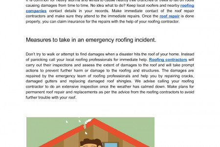 How to Tackle Emergencies in Roofing Infographic