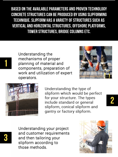 How to Tailor Your Slipform Construction Infographic