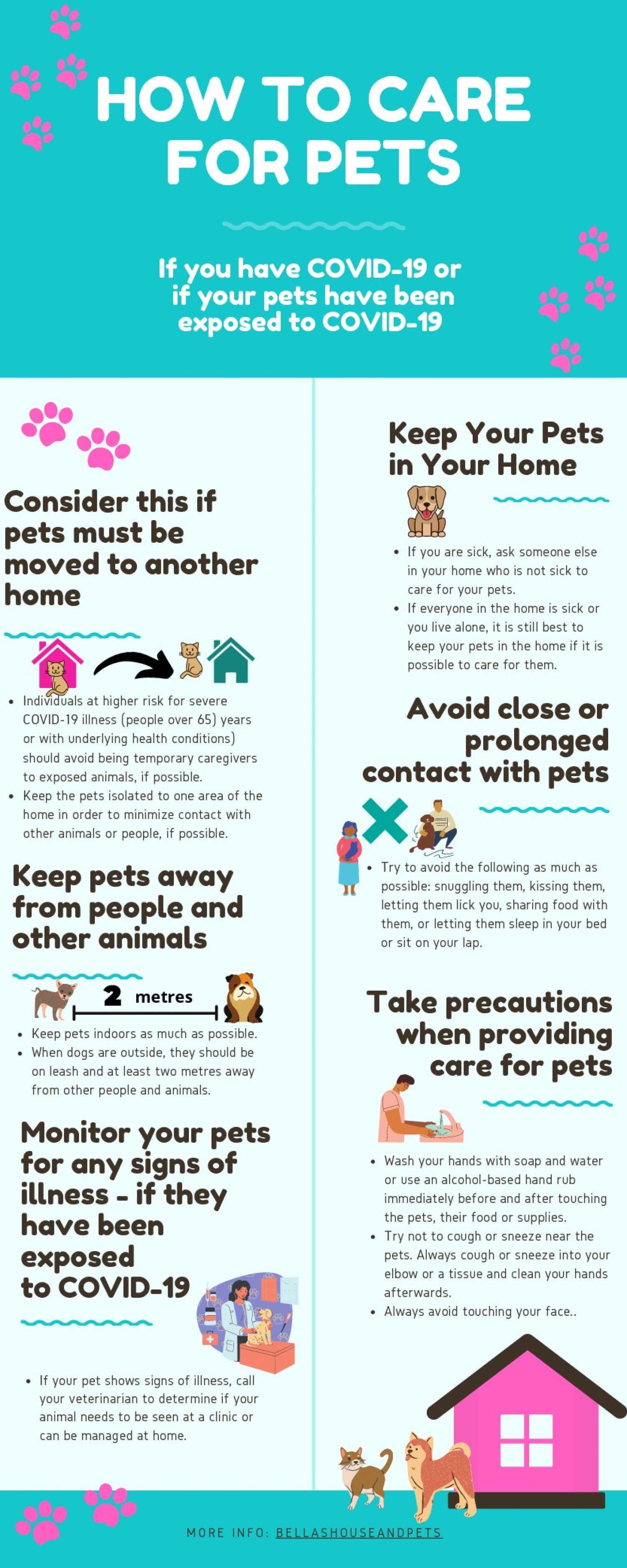 How to Take Care for Pets if You Have Covid-19 Infographic