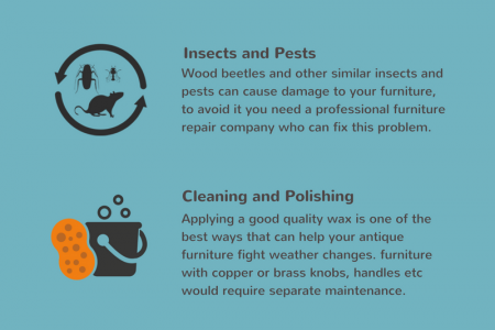 HOW TO TAKE CARE OF ANTIQUE WOODEN FURNITURE Infographic
