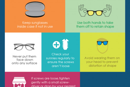 How to Take Care of Sunglasses  Sunglasses Cleaning Tips Infographic