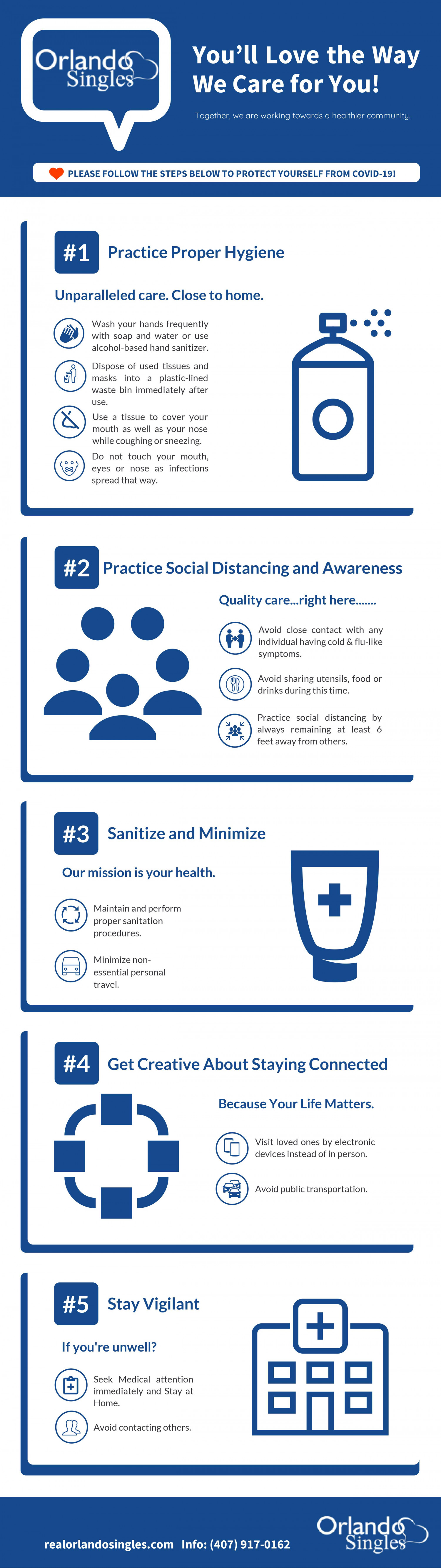 How to Take Care of Your Health During the COVID-19 Crisis? Infographic