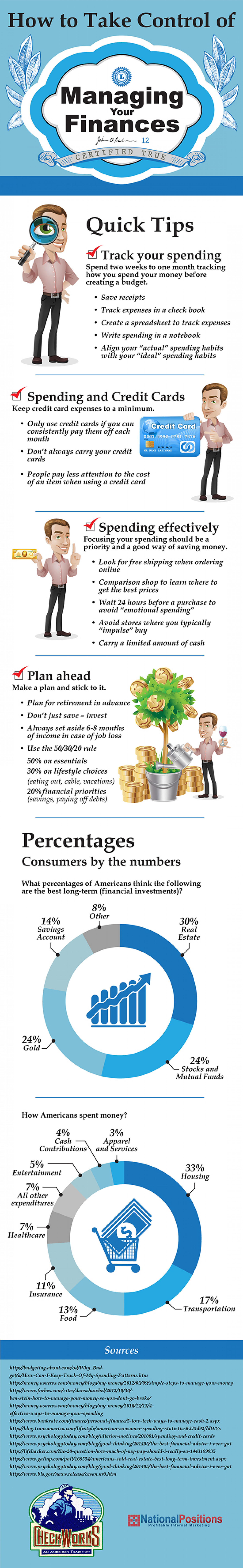 How to Take Control of Managing Your Finances Infographic