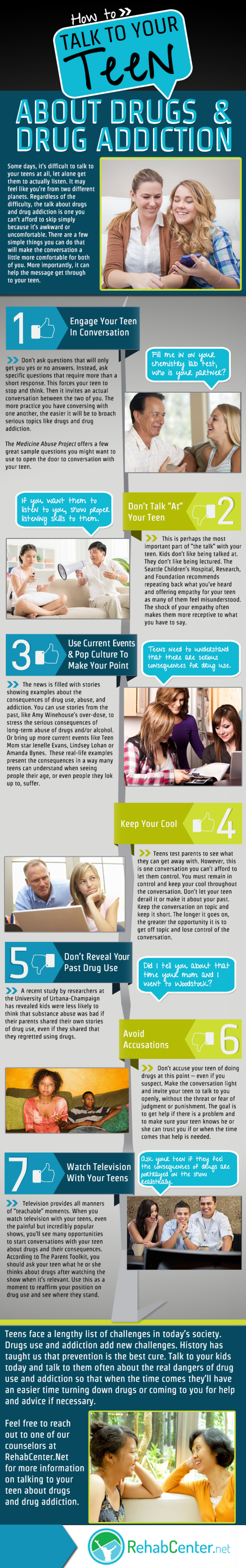 How to Talk to Your Teen About Drugs & Drug Addiction Infographic