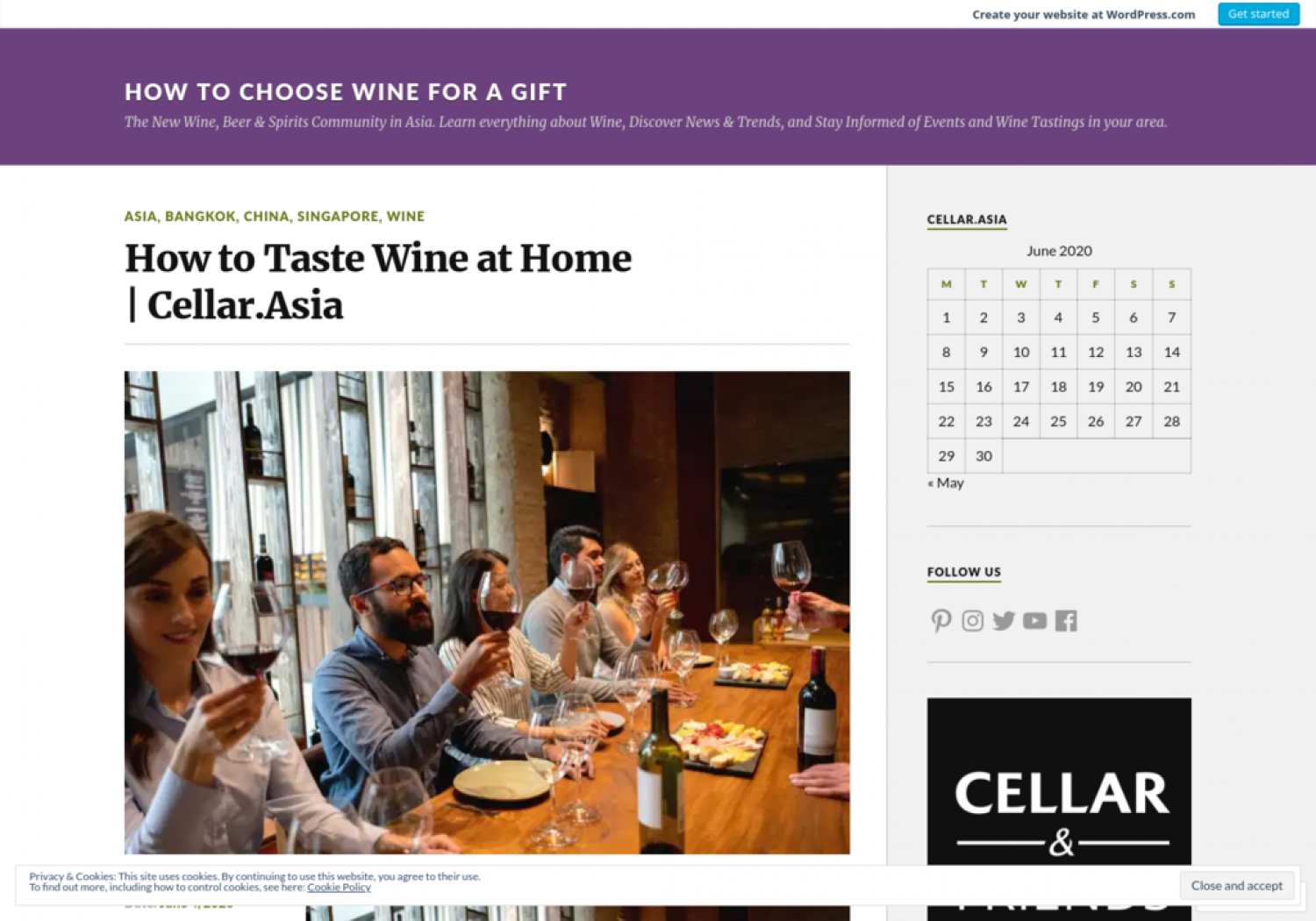 How to Taste Wine at Home | Cellar.Asia Infographic