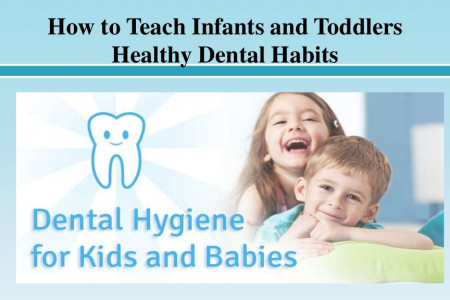 How to Teach Infants and Toddlers Healthy Dental Habits Infographic