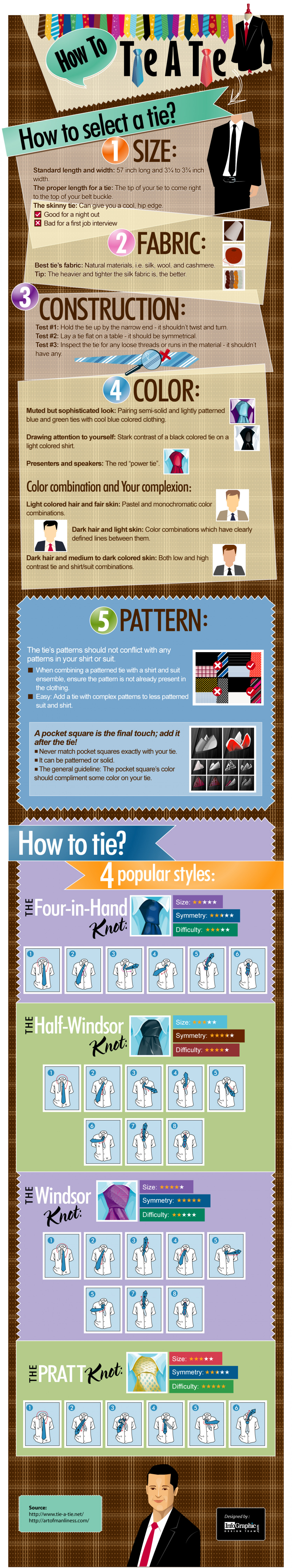 How to tie a tie visual how to tie a tie infographic ccuart Image collections