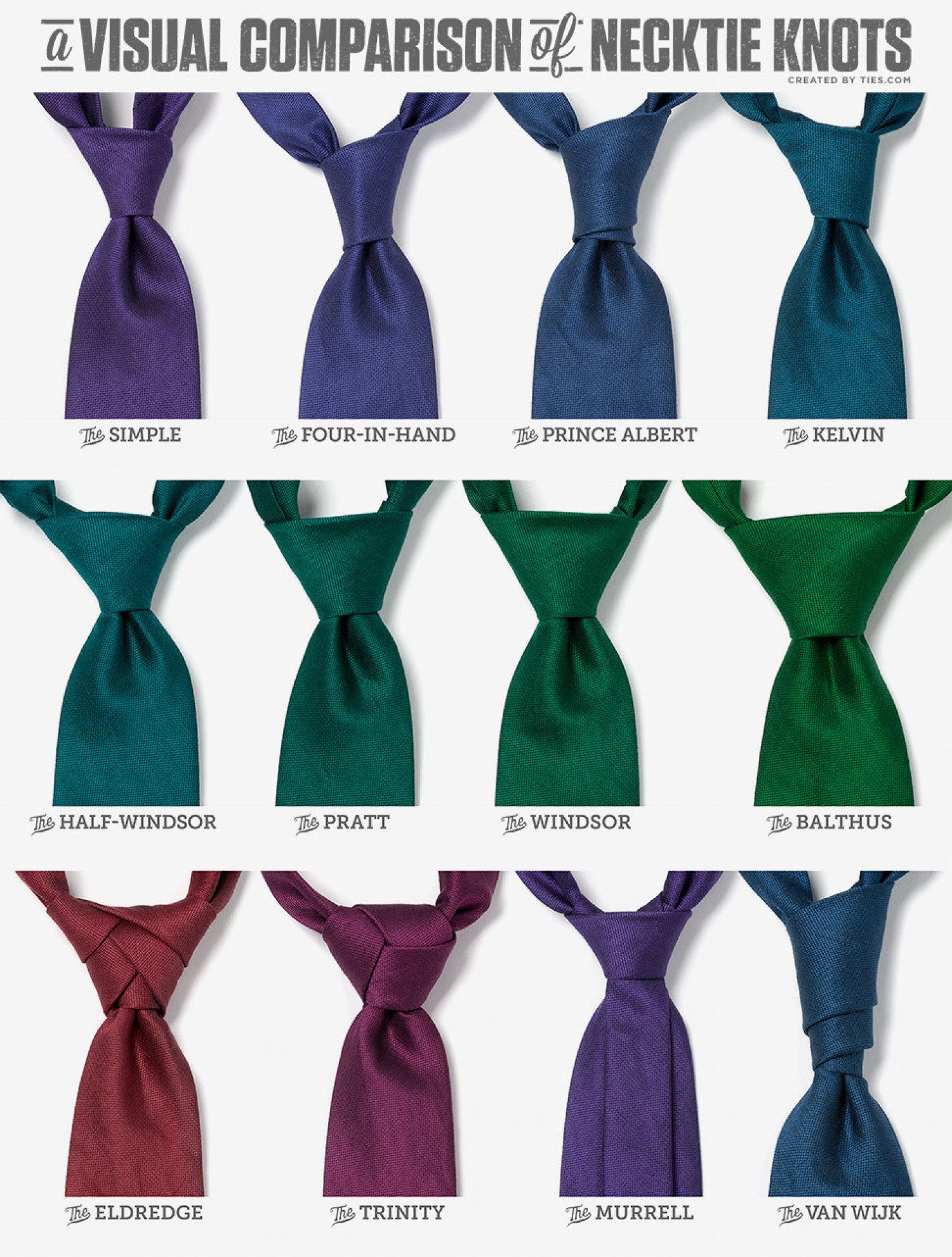 A Visual Comparison of Necktie Knots | Visual.ly - photo#21
