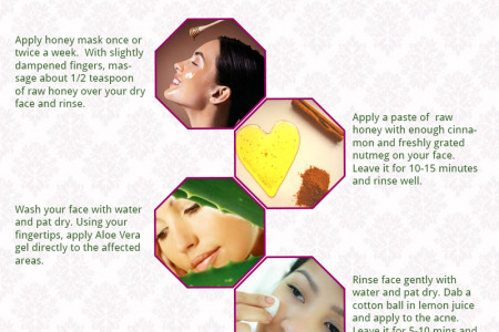 How to Treat Acne Naturally Infographic
