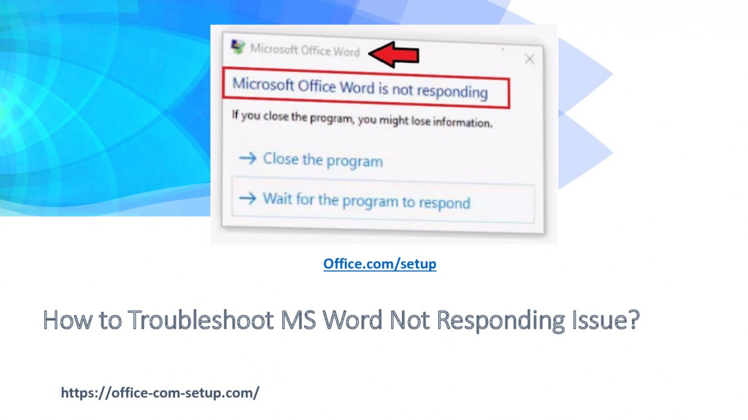 How to Troubleshoot MS Word Not Responding Issue? Infographic