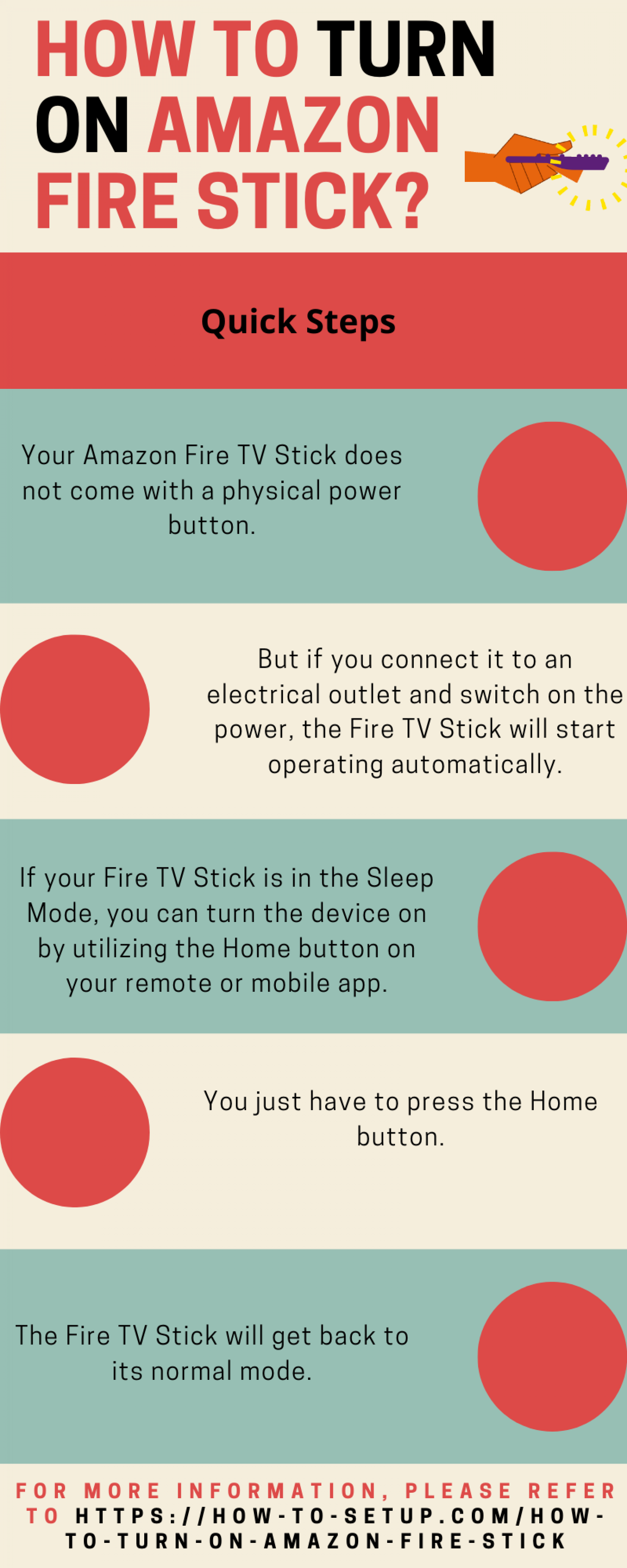 How To Turn On Amazon Fire Stick? Infographic