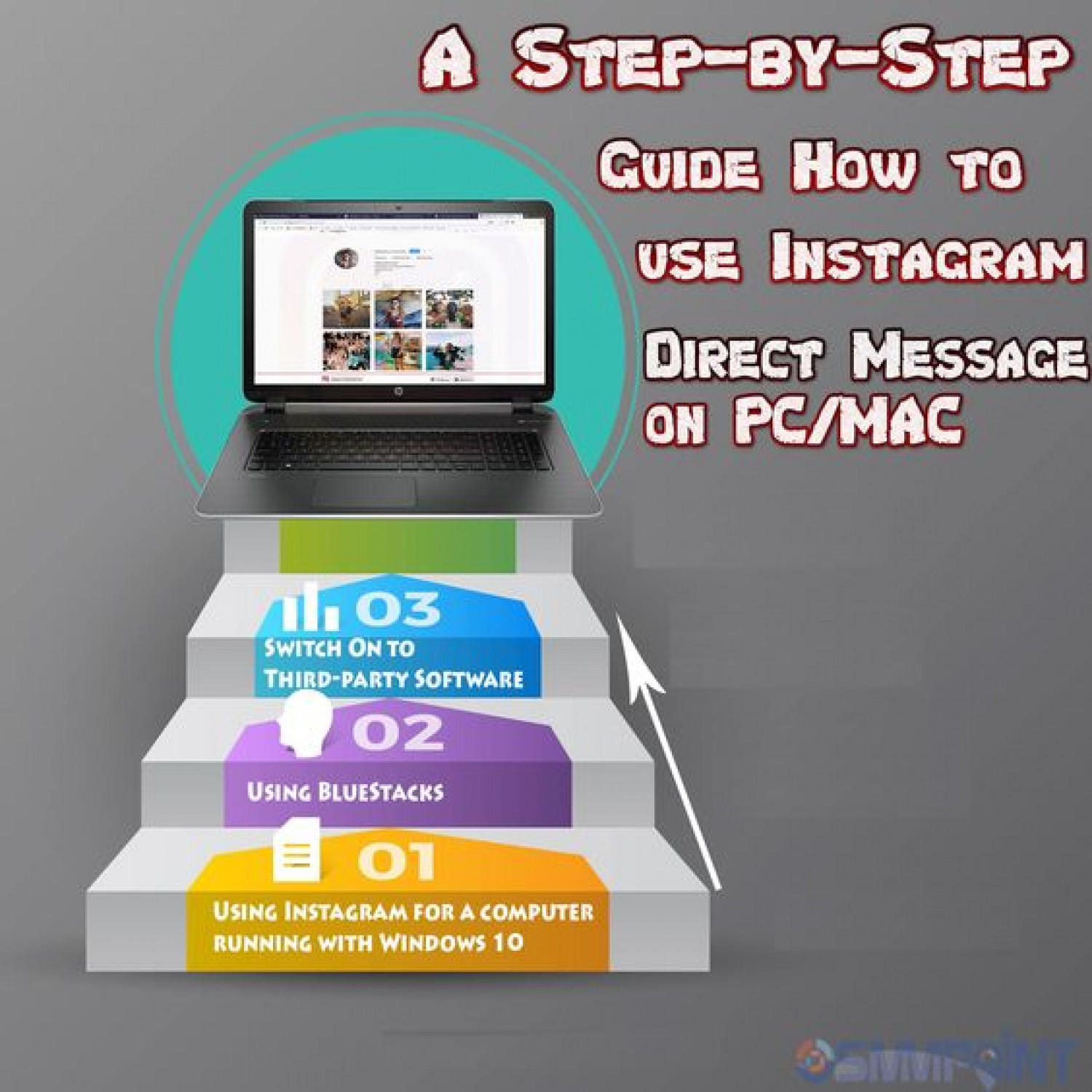 How to use Instagram Direct Message on Pc or Mac Infographic