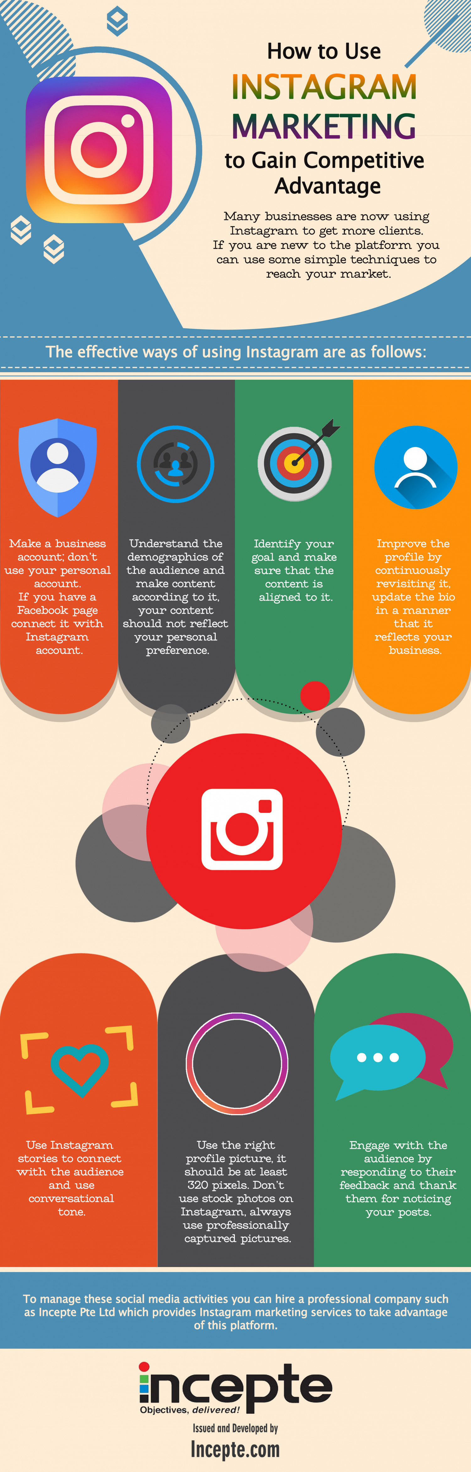 How to Use Instagram Marketing to Gain Competitive Advantage Infographic