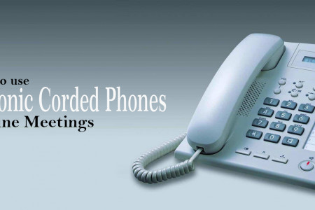 How to Use Panasonic Corded Phones for Online Meetings Infographic