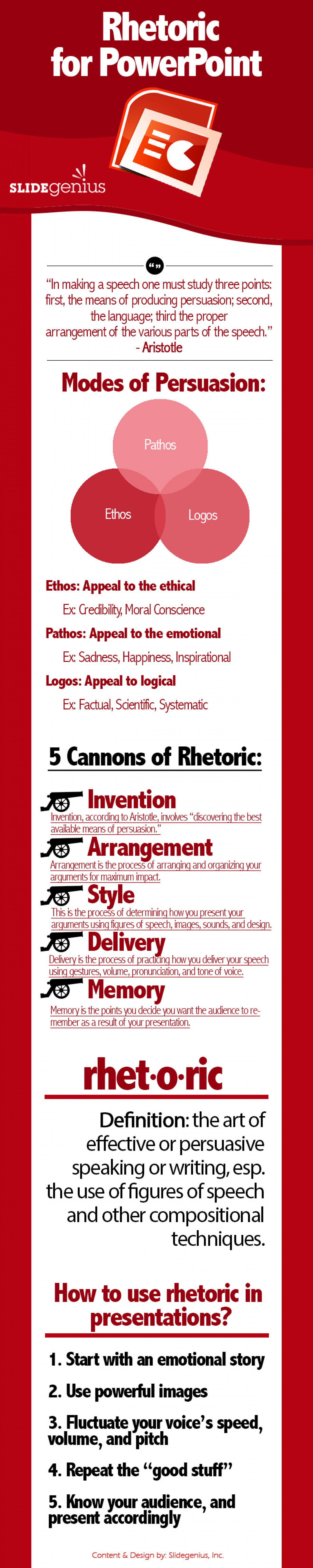 How to Use Rhetoric in Presentations  Infographic