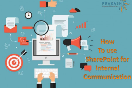 how to use SharePoint for internal communication Infographic