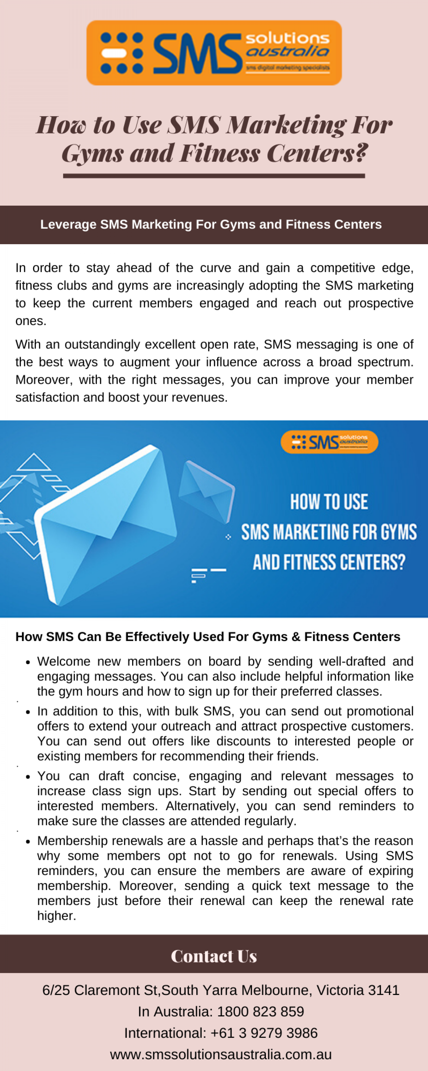 How to Use SMS Marketing For Gyms and Fitness Centers? Infographic