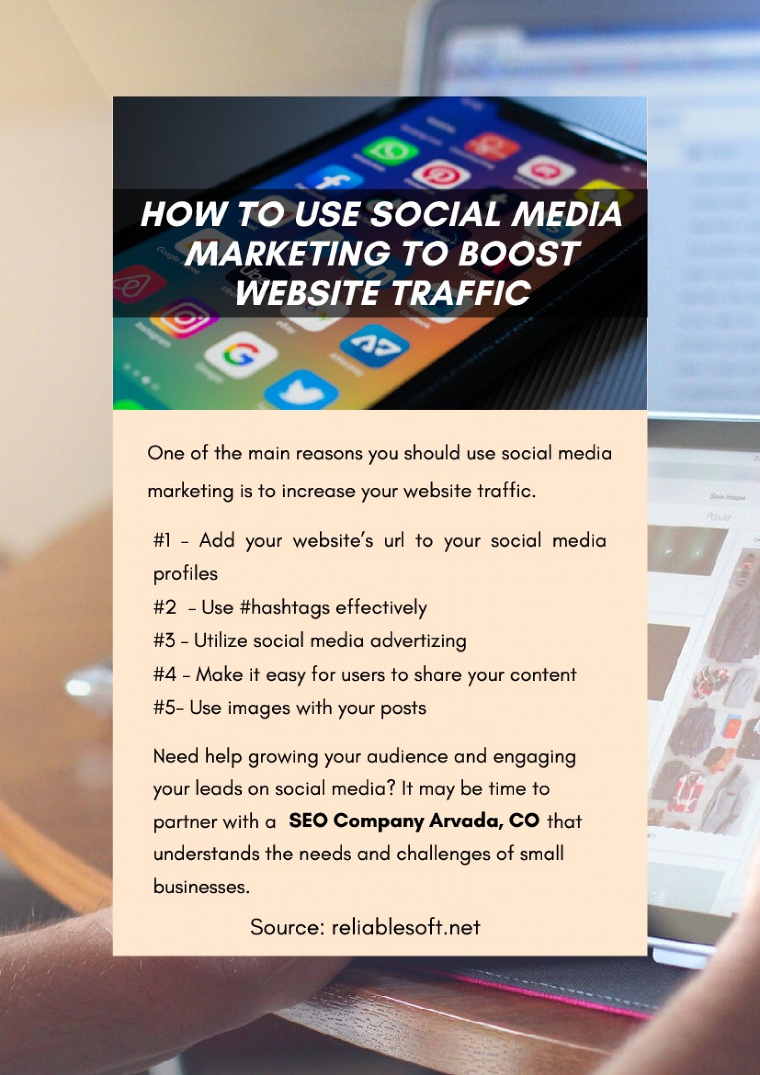 How To Use Social Media Marketing To Boost Website Traffic Infographic