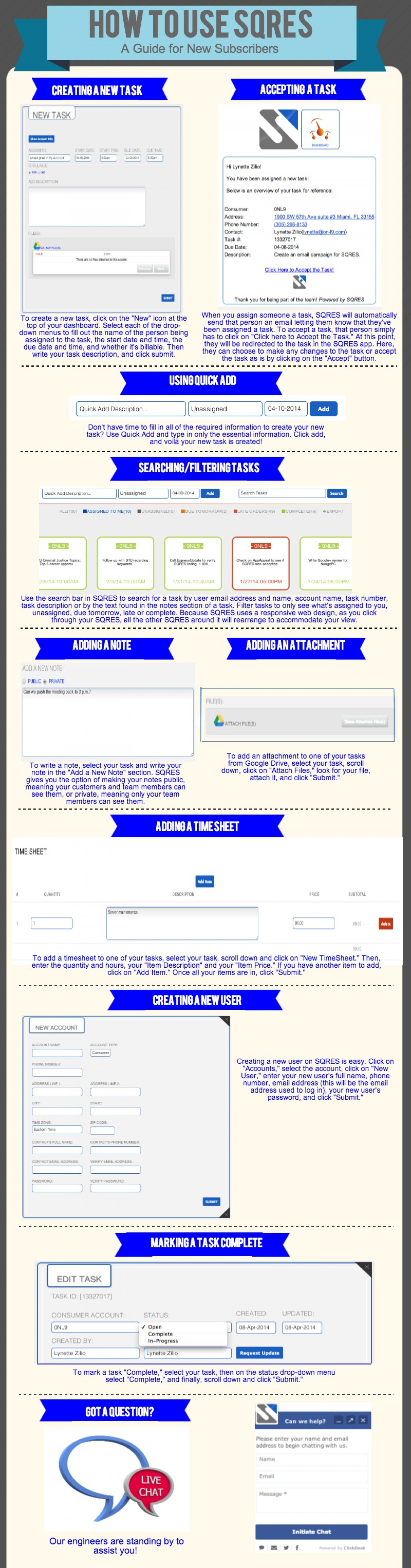 How to Use SQRES: A Guide for New Subscribers Infographic
