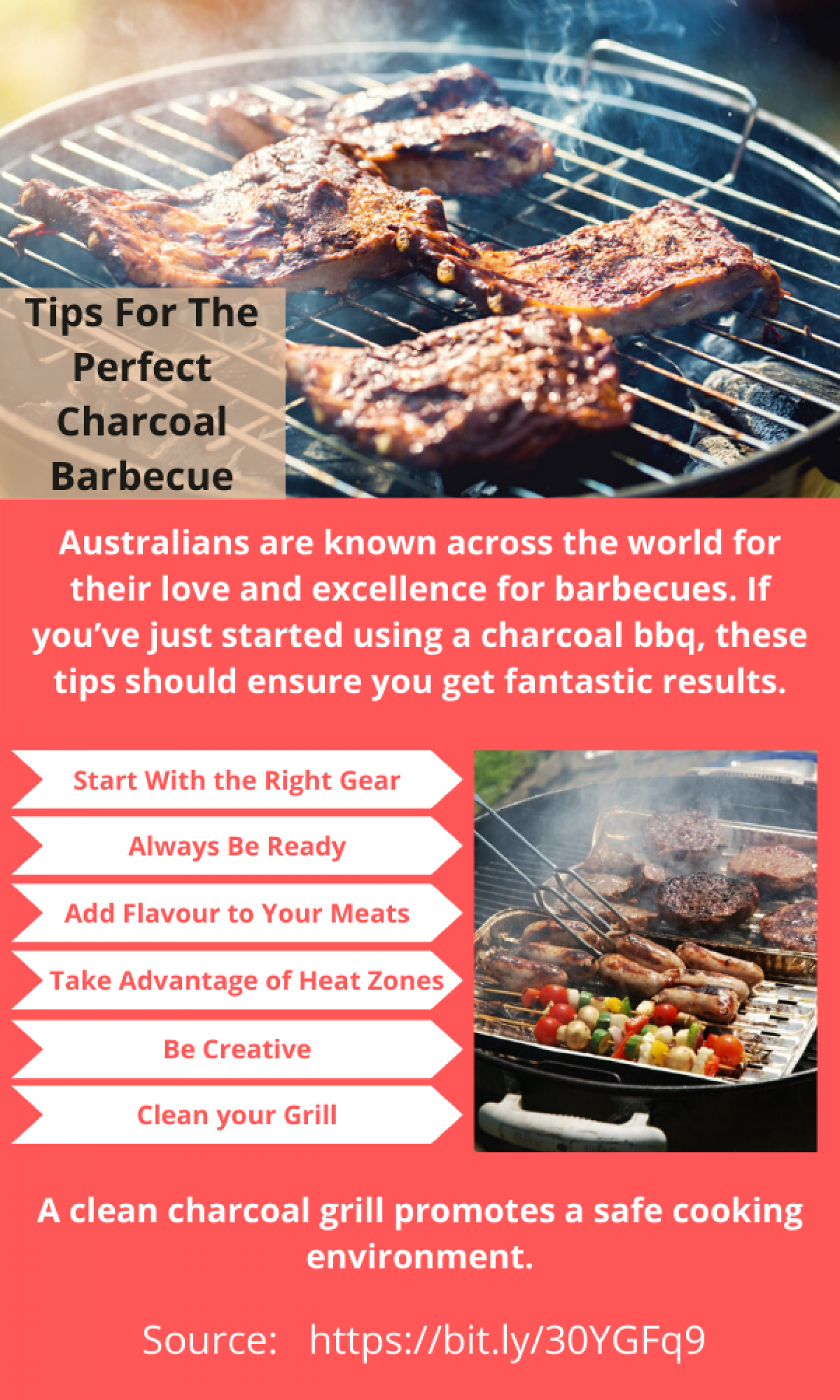 How to Use The Perfect Charcoal Barbecue Infographic