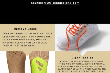 How to Wash Tennis Shoes Infographic