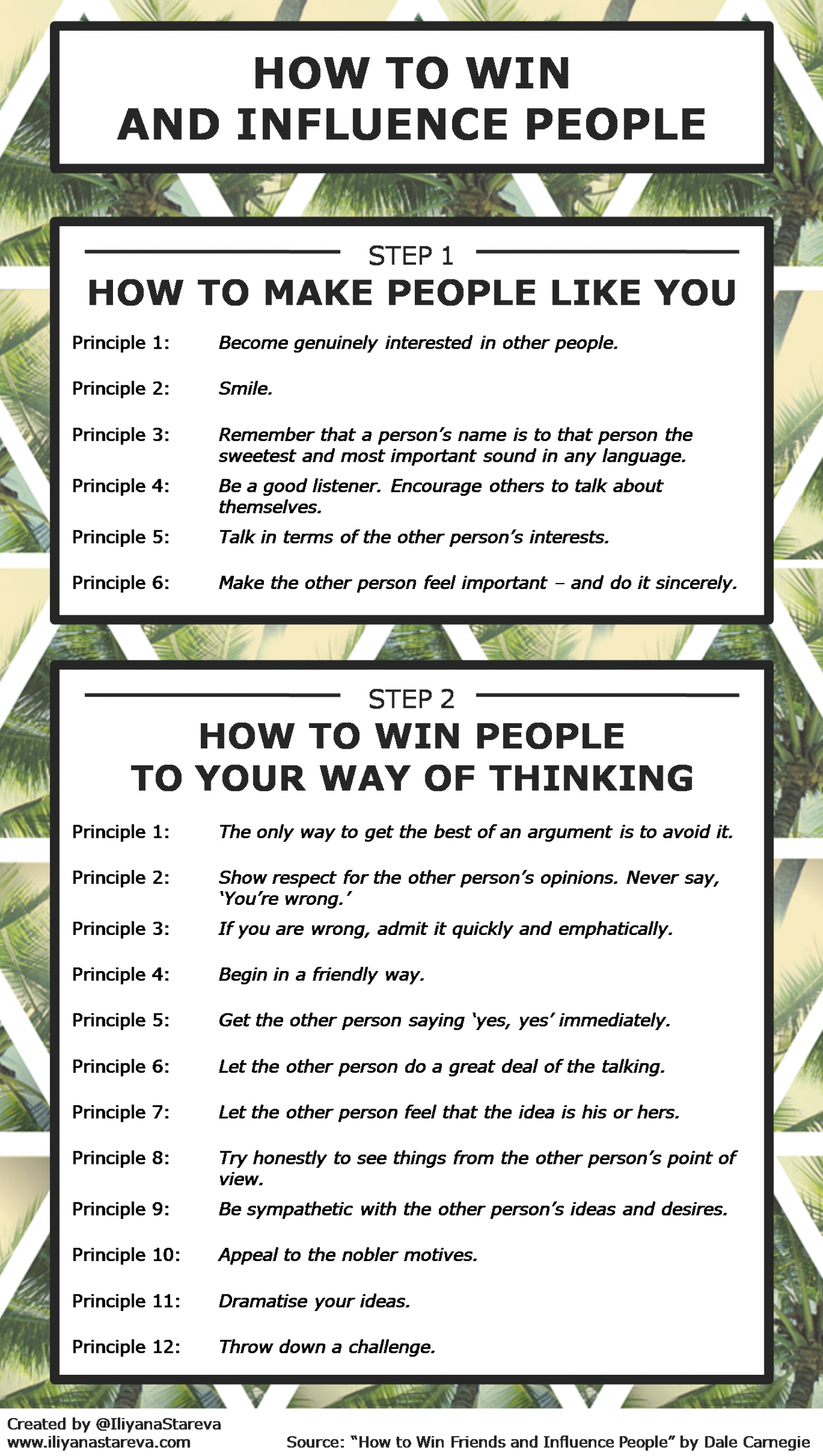 How to Win and Influence People [Infographic] Infographic