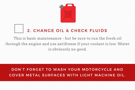 How to Winterize Your Motorcycle Checklist Infographic