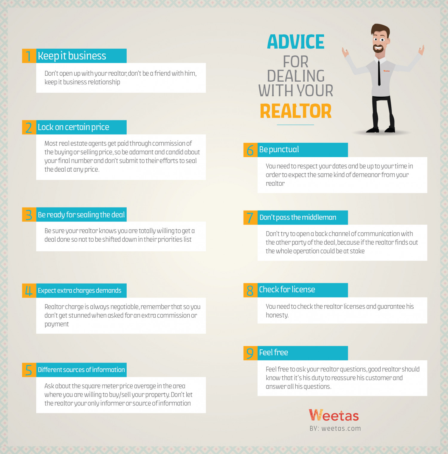 How to work with realtor ? Infographic