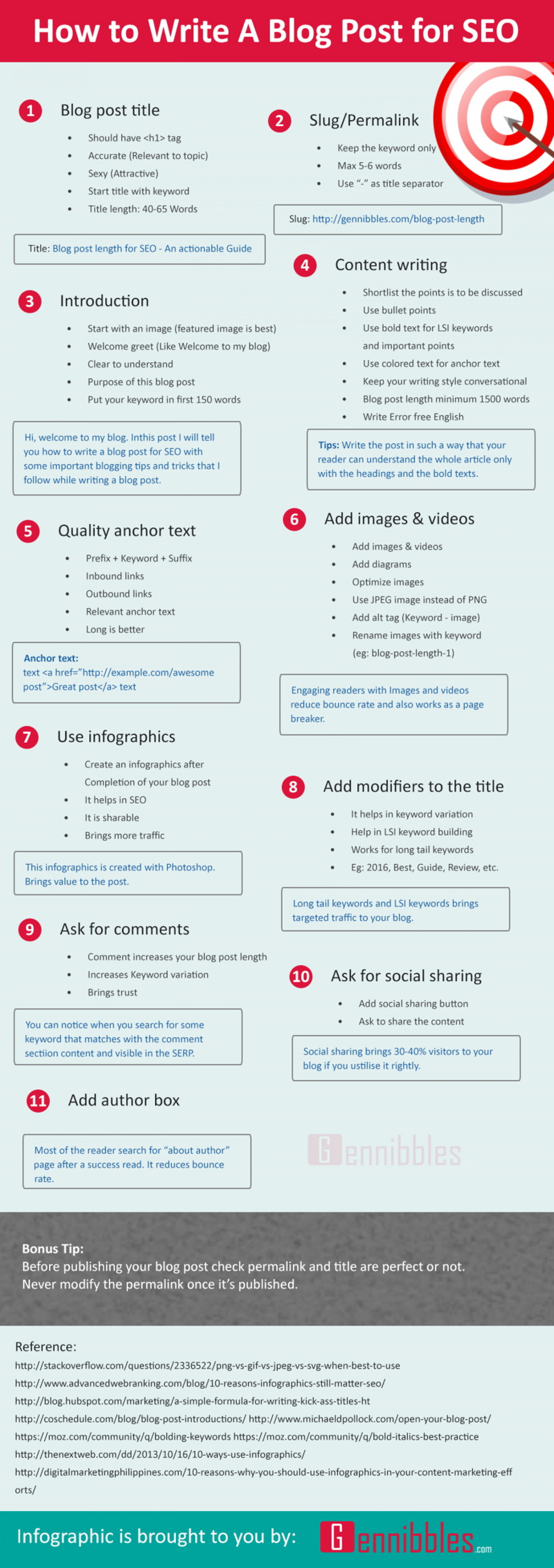 How To Write A Blog Post For SEO Infographic