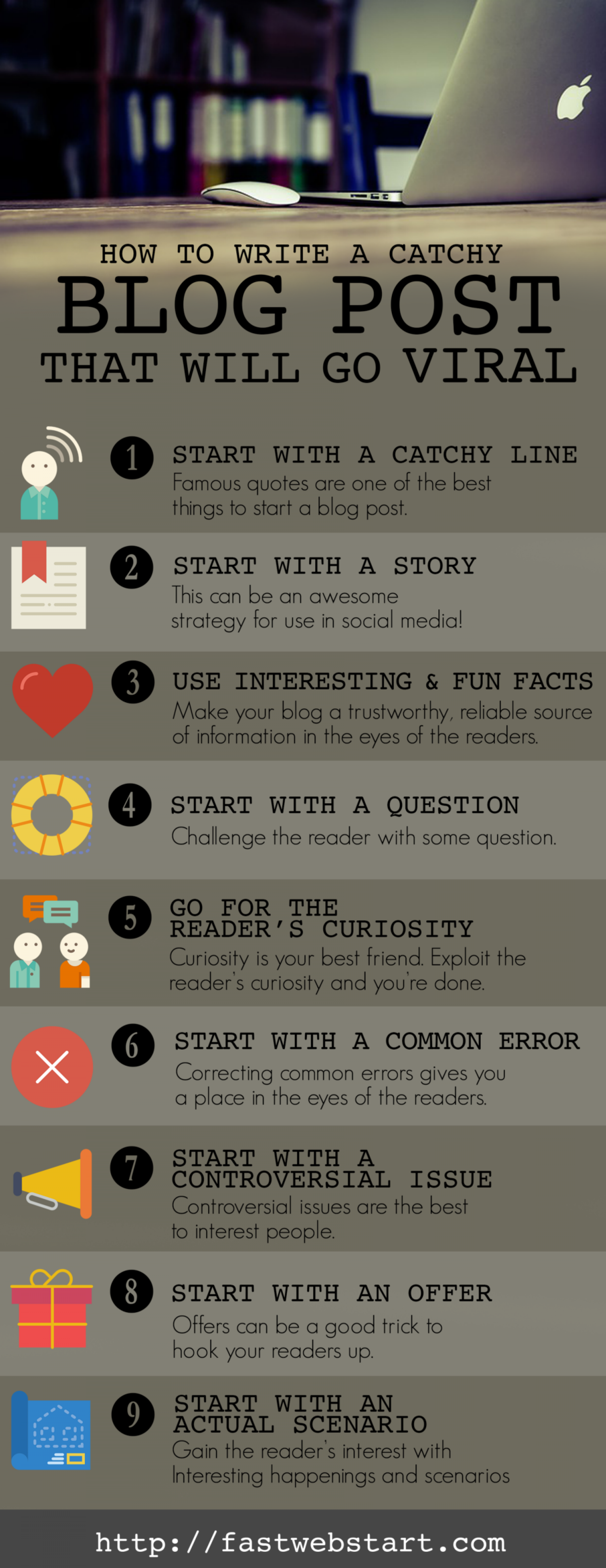 How to Write a Catchy Blog Post that Will Go Viral Infographic