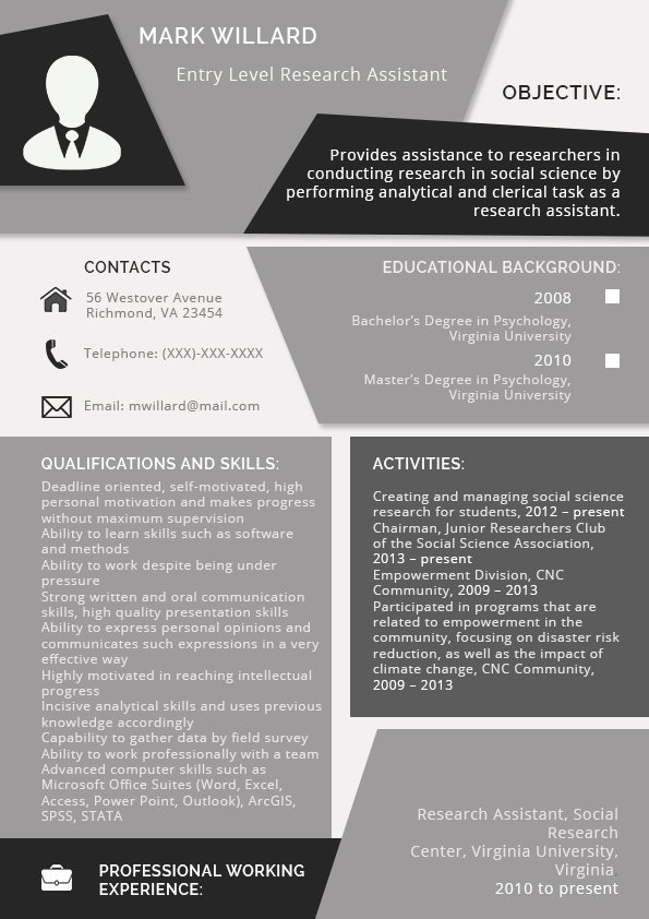 How To Write A Resume For An Internship 2016 Visual Ly
