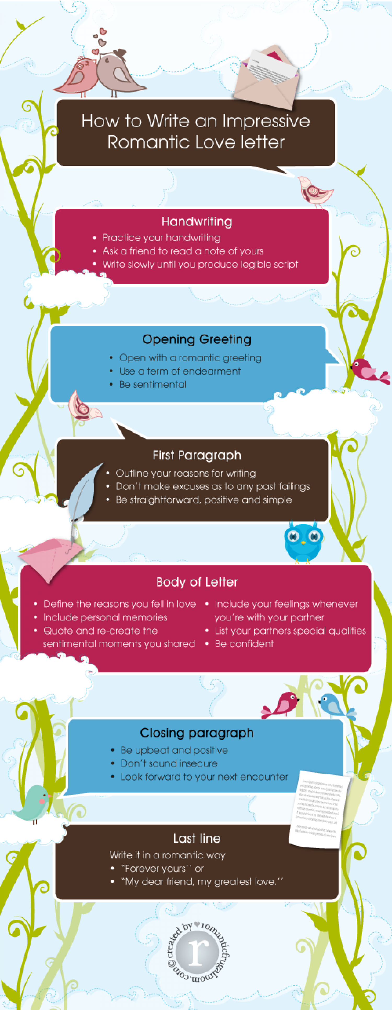 How to write an impressive romantic love letter visual how to write an impressive romantic love letter infographic expocarfo Image collections