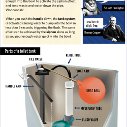 How Toilet Flushing Works Visual Ly