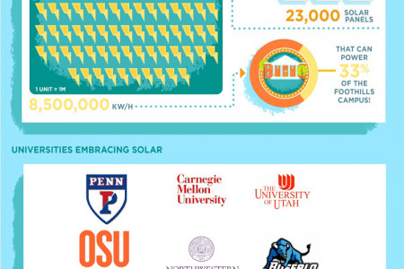 How Universities Are Going Green Infographic