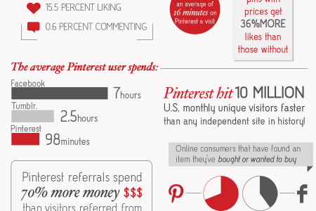 How Users Interact on Pinterest Infographic