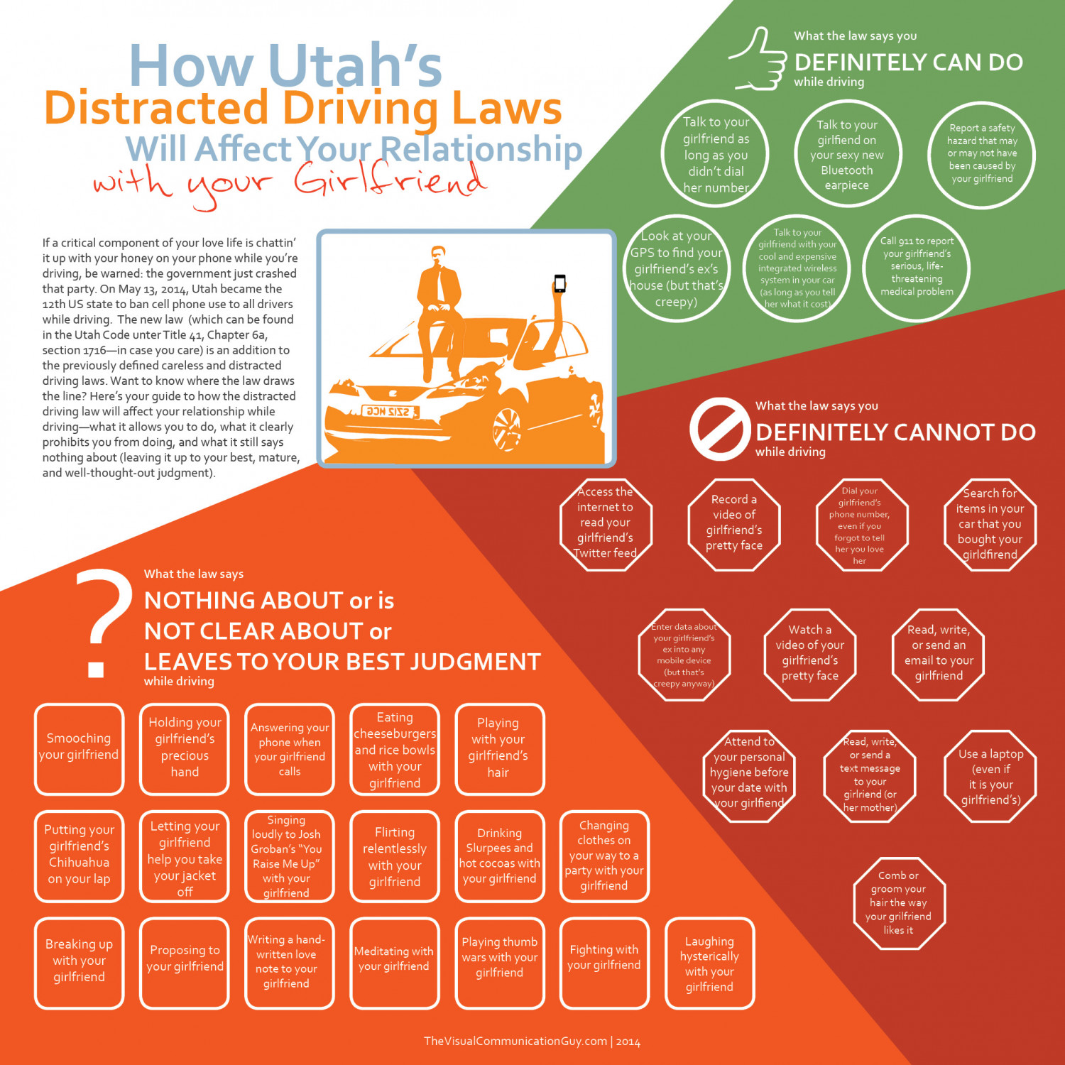 How Utah's Distracted Driving Laws Will Affect Your Relationship with Your Girlfriend Infographic