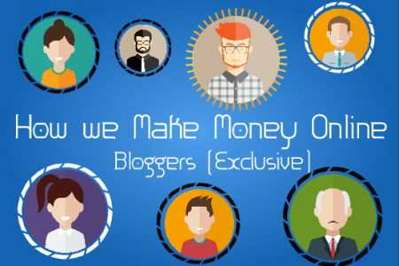 How Various Kinds of Bloggers make Money Online Infographic