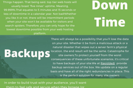 How web hosting affects SEO Infographic