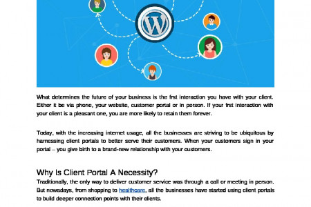 How WordPress Client Portal Can Help Your Business Thrive Exponentially? Infographic