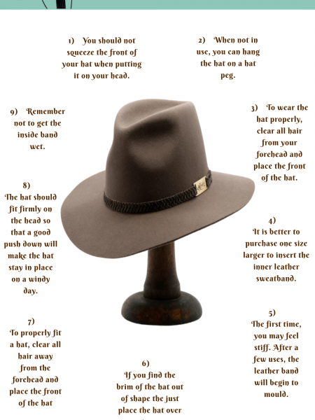 How Would You Maintain Your Akubra Hats? Infographic